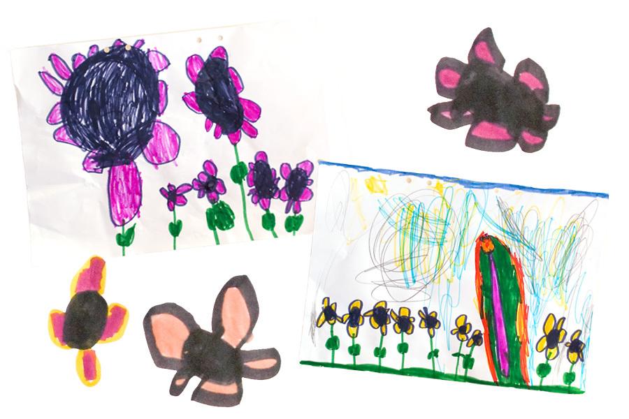 Barnteckning 4 år