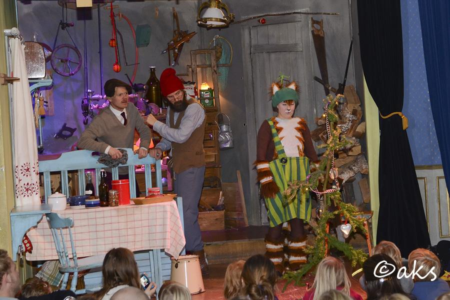 Pettson och Findus får julbesök