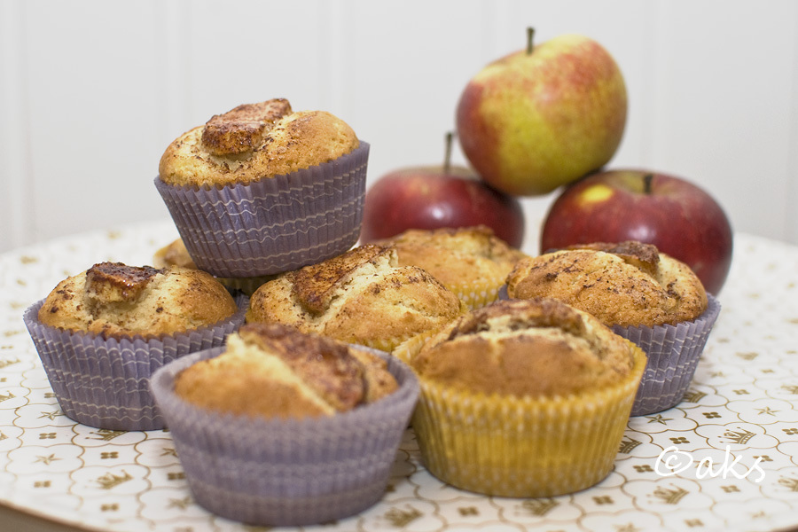 Muffins med äpple och kanel