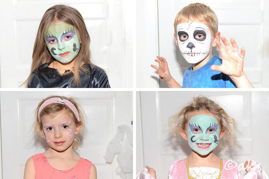 ansiktsmålningar dödskalle och häxor